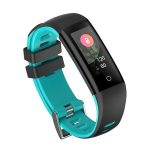 Bratara fitness MoreFIT™ G16, ecran color IPS, IP67, Android, iOS, notificari, negru/albastru