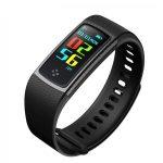 Bratara fitness TechONE™ S9 Pro, ecran color, BT 4.0, curea carbon, negru