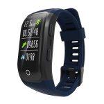 Bratara fitness MoreFIT™ S908s Premium Color, GPS, multi sport, Android, iOS, notificari, albastru