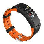 Bratara fitness MoreFIT™ P5 Plus , display color cu GPS integrat, negru