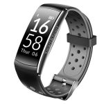 Bratara Fitness FIT Q8 MAX, NOTIFICARI Apeluri/Mesaje/Facebook, 0.96″ OLED Display, Grey Edition