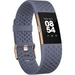 Bratara fitness Fitbit Charge 2, Sport Rose Gold, Blue/Grey, Small