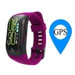 Bratara fitness MoreFIT™ S908s Premium Color, GPS, Android, iOS, notificari, mov