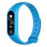 Bratara fitness TechONE™ M2, BT 4.0, heart rate, rezistenta apa, , albastru